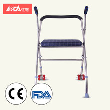 YIJIA 2018 aluminum handicapped power wheelchair foldable chair commode Folding seat cushion