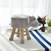 Cute Pet Animal Shape Child Chair Wooden Stool Luxury Wooden Footstool Ottoman Children wooden Stool for baby living room