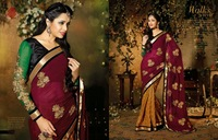 Brocade with zari work saree