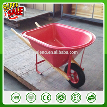 WB0201 Plastic tray wheel barrow toy for children kid's wheelbarrow small barrow palstic tray woddk handle