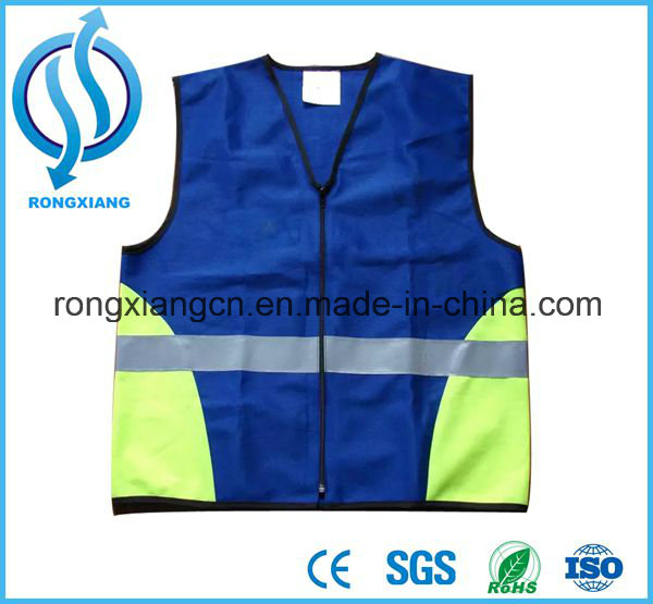 High Visibility Security Gear Stripes Jacket Night Work custom logo multi-functional pockets reflective vest
