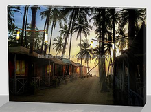 Palm Tree canvas picture,LED canvas,canvas art with led lights
