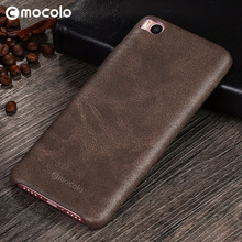 Mocolo Golden Supplier Wholesale Top A Leather Pu Material Mobile Back Cover Anti-Scratch Phone Case For Xiaomi 5S