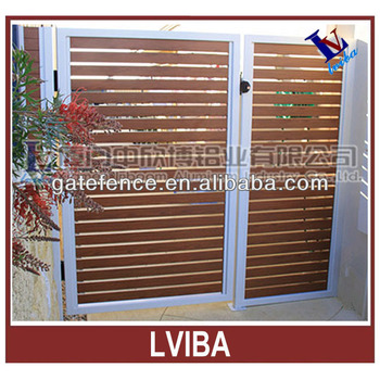 Popular style fencing door & aluminium slat fencing door