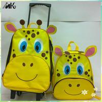 Giraffe shape trolly bag lovely children cartoon luggage