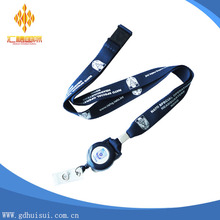 Wholesale custom design Logo neck lanyard/polyester lanyards no minimum/ phone key chain for collection ID holders