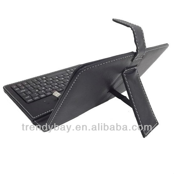 Best selling tablet pc/mid leather case with keyboard