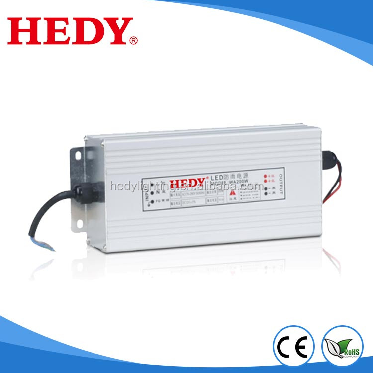 Factory Manufacturing smps 5v 12v 24v for projector power supply Rainproof Case constant voltage 200w led driver