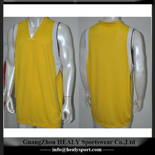 Gold color basketball jersey custom made for clubs