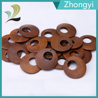 Newest Design Wholesale Round Flat wooden beads for Bracelet neclaceDIY