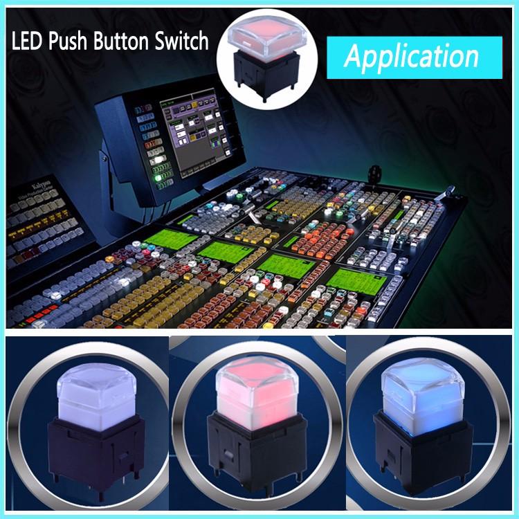 HD-Audio System Pushbutton Switche with RGB LED