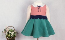 Wholesale girls party fancy wedding dress 2014 for girls of 7 years old baby girl wool dresses