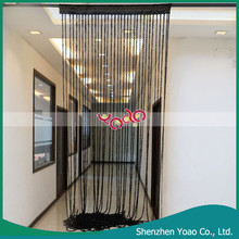 Black Nylon and Cotton Spiral Decorative String Curtain