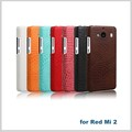 New Luxury Black PU Leather Cover For Red mi2 Phone Case