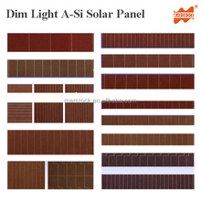 Dim Light Amorphous Silicon Thin Film Solar Cell