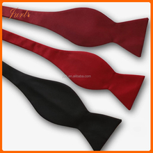 Cheap Price Woven Black Self Bow Ties For Men