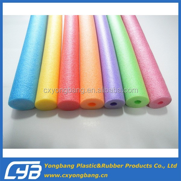 Polyethylene foam swimming noodle tube