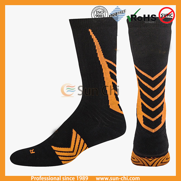cotton cheap custom crew padding socks
