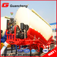 Best price 3 axle 60 cbm bulk cement semi trailer for sale
