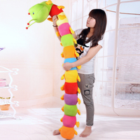 China best supplier cheap plush caterpillar toy cute colorful stuffed plush caterpillar soft toy