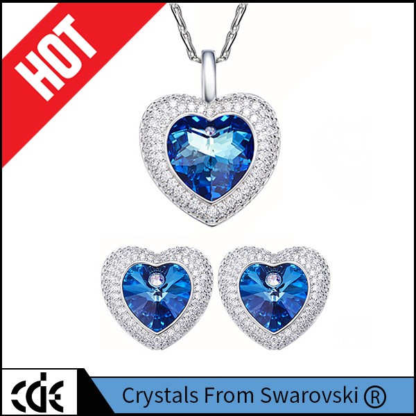 Crystal from Swarovski 925 Sterling Silver Jewelry Women Crystal Pendant Necklace