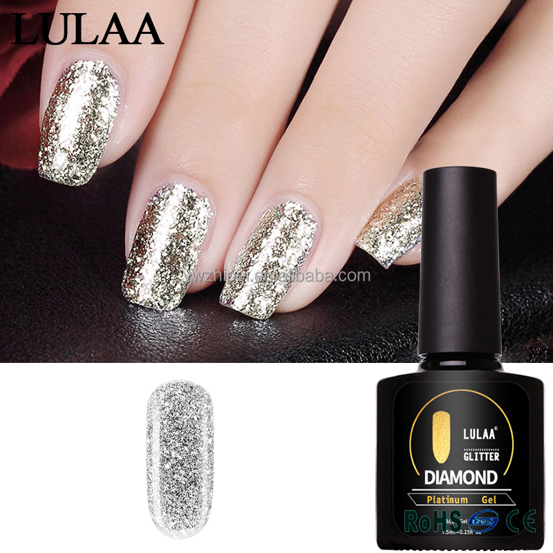 Lulaa Platinum <strong>Gel</strong> 7.5 ml 14 Colors Super Shining Effect Long term Nail <strong>Gel</strong> Perfect Soak off UV&LED <strong>Gel</strong> Polish