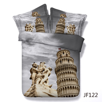 Iconic Leaning Tower of Pisa in Florence Italy 3d HD Digital bed linen set