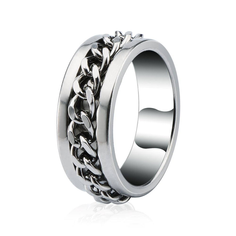 High quality Fashion jewelry Men 'scool 316L surgical stainless steel ring , women 's tungsten ring