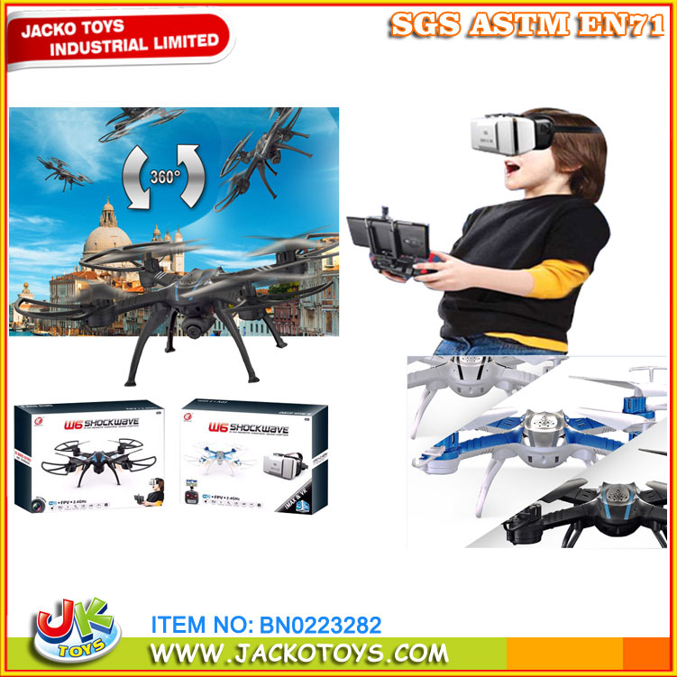 newest product FPV 3D VR BOX drone 2.4G drone with 3D wifi glasses