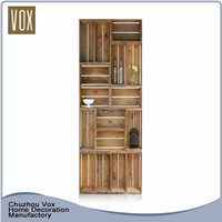 China factory Creative Home Furniture picture of wooden bookcase