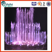 2.5m Charming outdoor garden use and stainless steel decorative wedding cake shape music dancing fountain