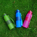 New products protable silicone water bottle Travel Sport collapsible foldable water bottle in outdoor pocket water bottles