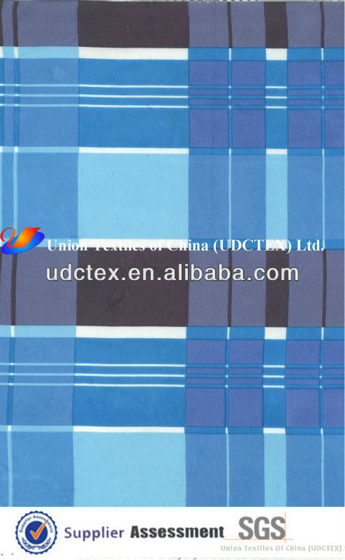 Cotton Poplin Check Printing Fabric
