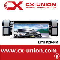 LIYU PZR-KM 10ft large format digital outdoor flex banner printer printing machine with 4 Konica 512 14 PL head