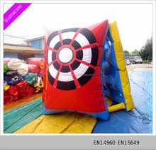 indoor inflatable funny sport games inflatable shooting toys for adults and kids