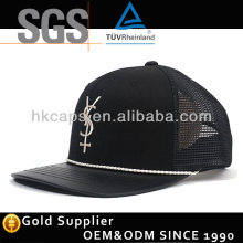Custom Black Neon Embroidery Mesh Trucker hat Wholesale