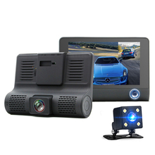 Car Camera 4.0 inch Best Dash Cam 1080P Dual Lens with 170 degree wide angle Support Night Vision Fill Light Parkin car dvr
