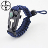 >>>Paracord Survival Bracelet with a 550LB Parachute Cord, Fire Starter, Embedded Compass, Flint, Emergency Knife & Whistle