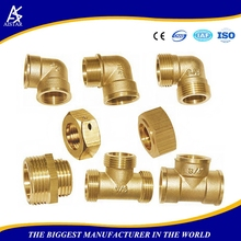 CNC lathe processed water pipe fittings gas pipe compression fittings