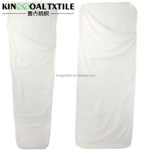 100% Pure silk White color Travel Men Women sleeping bag