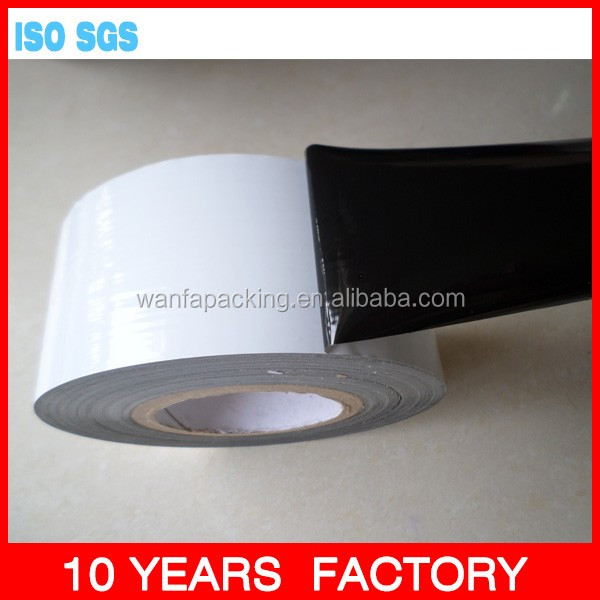 Wanfa Wanfa pe black white protective film tape for Aluminum Profile surface protective