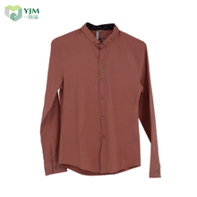 Latest Design Custom Logo Chinese Collar Casual Shirts For Men