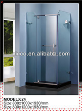 Square Hinge Door Fiberglass Hotel Enclosed Shower Enclosure