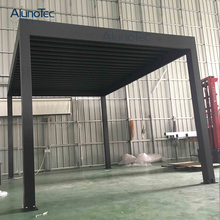 DIY Assembled Operating Louver Pergola Roof In Factory