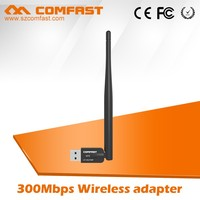 New 300Mbps Black WiFi Wireless Adapter Mini Wlan Usb Network Dongle Adaptor 802.11 B G N COMFAST CF-WU756P