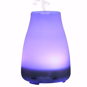 150ml Cool Mist Aroma Humidifier with 7 Colors Changing LED Lights, Portable, Waterless Auto Shut-off Essential Oil Diffuser