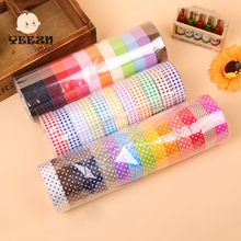 Paper Roll Wrapping Ribbon Fancy Sticky Waterproof Color Tape