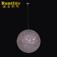 Delicate Globe Shape Hotel Usage Crystal Pendant Lamp RT1352-3