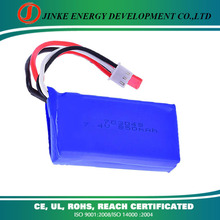 China suppliers rechargeable li-ion battery pack li-po battery 7.4v 850mah for ceiling fan