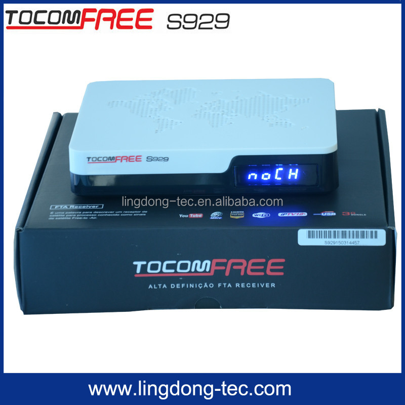 Free internet <strong>satellite</strong> receiver Tocomfree S929 with free iks sk sreceiver de <strong>satellite</strong> for South America